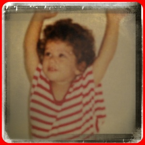 Me as a toddler - hair never stood a chance!